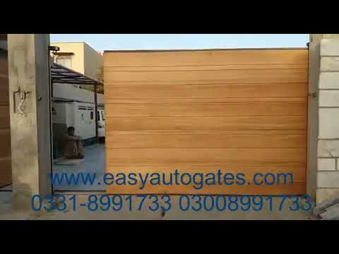 automatic sliding gate electric motorized remote control system kit installation