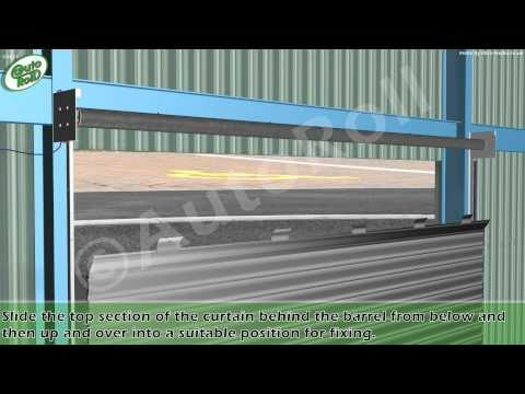 How to assemble and install an AutoRoll commercial galvanised roller shutter.