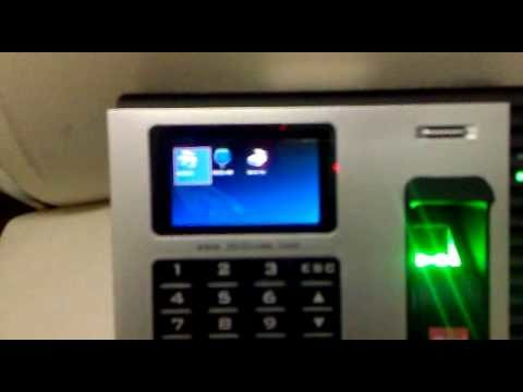 Biometric Fingerprint device demo.mp4