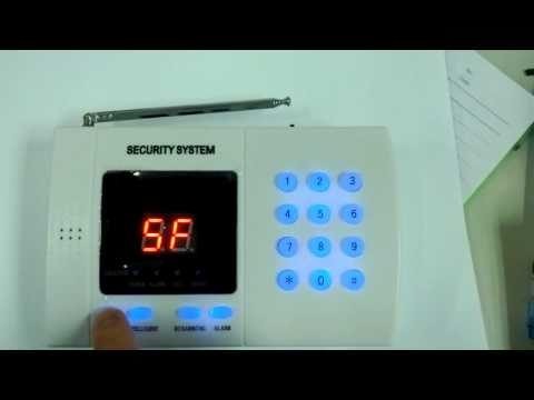 CK-AL-9903 99 Zone Home Alarm Security System Keypad Lock Demo