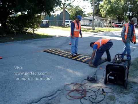 Installing a Rubber Speed Hump